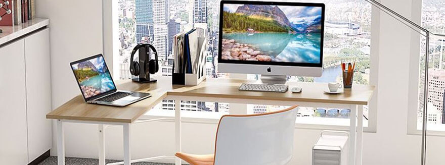 L Shaped Computer Desks Ideal for Students and Home Office Workers
